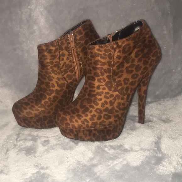 Leopard Booties Size